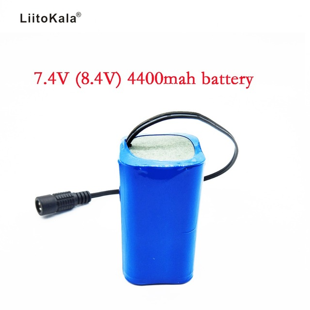 LiitoKala 7.4V 8.4V 4400mAh Battery Pack 18650 Battery 4.4Ah Rechargeable Battery For Bicycle Headlights/CCTV/Camera/Electric
