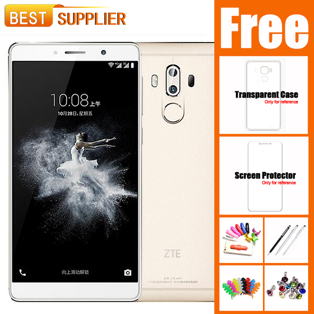 "2017 Original New ZTE Axon 7 Max 4G RAM 64G ROM 4G LTE Mobile Phone 6.0"" 1920*1080 FHD Android 6.0 Octa Core 13.0MP Fingerprint"