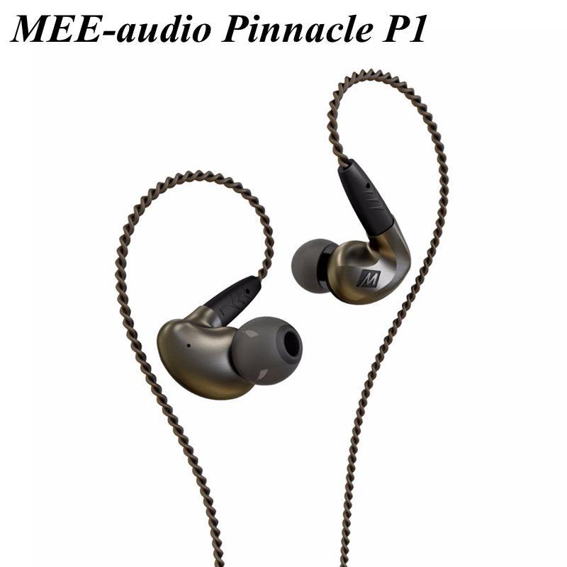 Original MEE Audio MEElectronics Pinnacle P1 Audiophile Bass HIFI DJ Studio Monitor Music In-Ear Earphones w/ Detachable Cable original mee audio pinnacle p1 audiophile bass hifi dj studio monitor music in ear earphones w detachable cable vs pinnacle p2