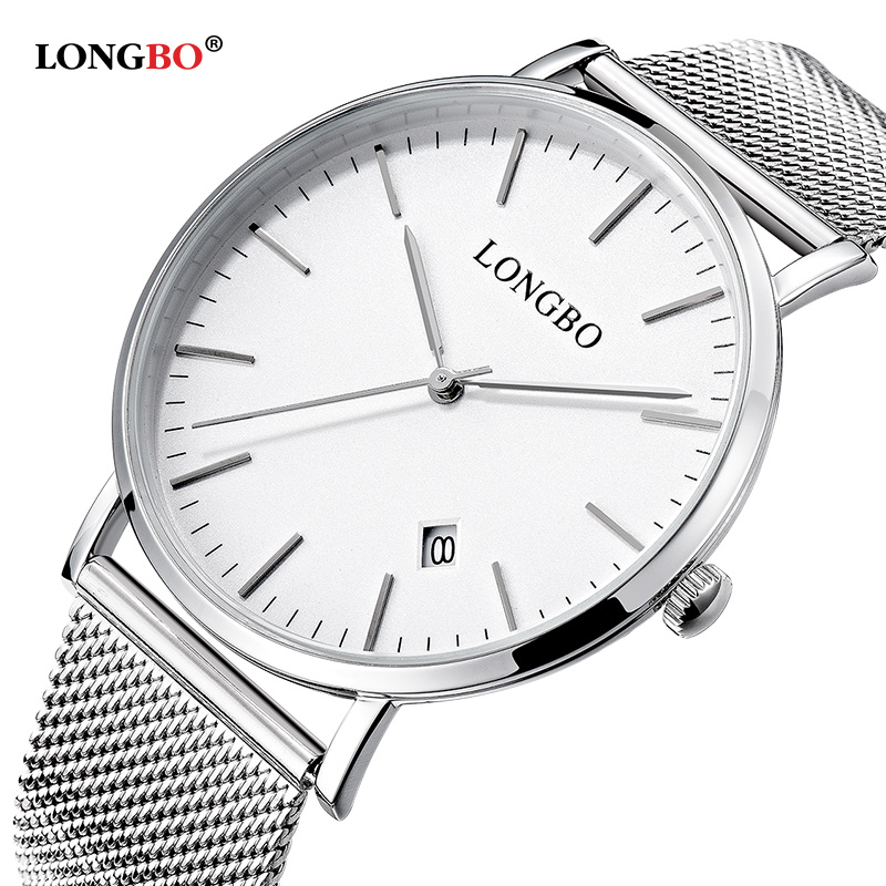 Longob Brand Lovers Couple Watches Men Woman Date Day Waterproof Lady Luxury Gold Stainless Steel Quartz Wristwatch Montre Homme
