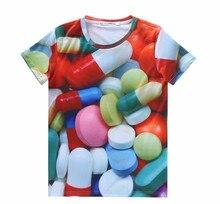 Men's fashion Candy sugar tablets original printing summer students cartoon T-shirt lovers dress.(China (Mainland))