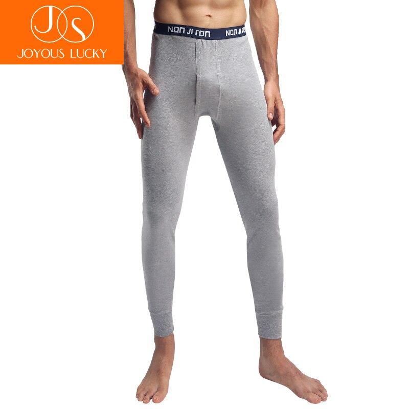 JOYEUSE CHANCEUX Pantalons Chauds Mâle Coton Sous-Vêtements Pour Hommes L-4XL Pantalon Hiver Jeunes Hommes de Pantalon Mince Mince Paragraphe Sous-Vêtements