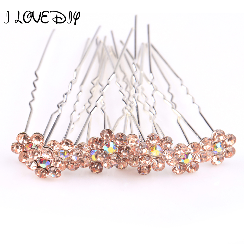 2014 Romantic Crystal Rhinestone Artificial Flowers Wedding Bridal Hairpins Tiara Party Hair Accessories Tourism