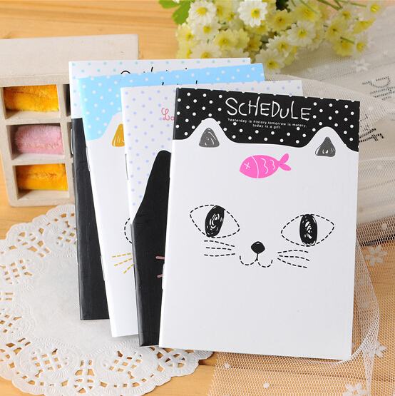 2017 New Agenda Kawaii Stationery Small Cute Cartoons School Notebook Paper Book Caderno Promotion Gifts12.5*9cm K6271