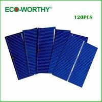 120pcs 52x39 Solar Cells Kit W Tab Bus Wire Flux Pen J Box Cable DIY Solar