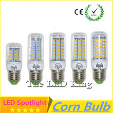 1X 2019 NEW LED lamp E27 E14 G24 GU10 8W 12W 16W 18W 24W 25W 30W SMD 5730 Corn Bulb 220V Chandelier LEDs Candle light Spotlight(China)