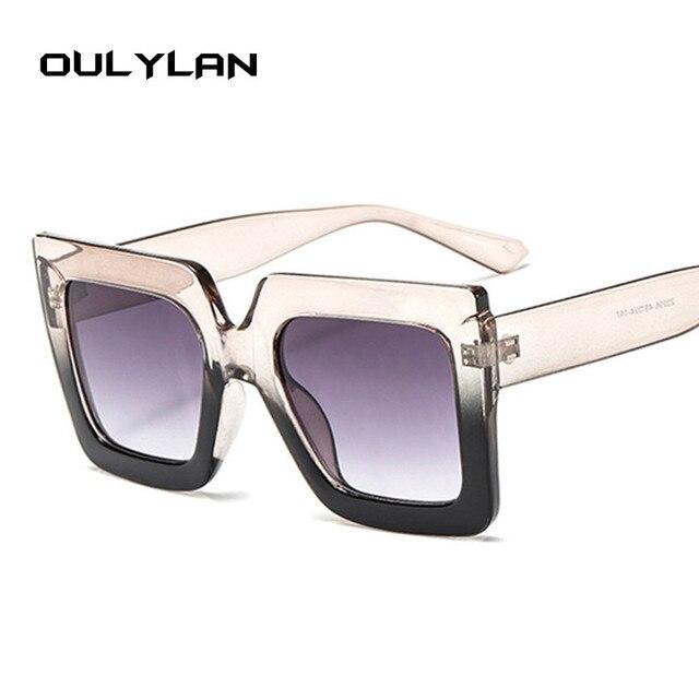 4b9b1d1428e Oulylan Oversized Sunglasses Men Women Luxury Brand Designer Gradient Sun  Glasses Shades Retro Big Frame Shield Sunglass