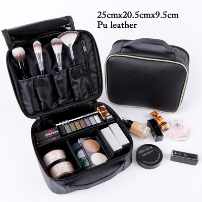 Professional clapboard portable cosmetic bag small portable simple makeup waterproof storage bag 5