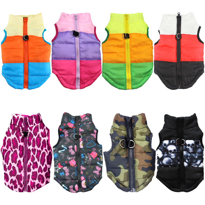 Waterproof Dog Jacket and Warm Pet Clothing with Zipper Design