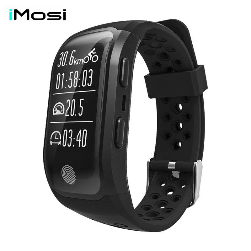 Imosi S908 Bluetooth GPS Tracker Wristband IP68 Waterproof Smart Bracelet Heart Rate Monitor Fitness Tracker Smart Band