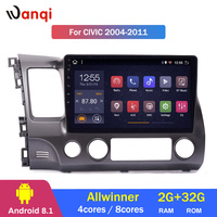 2G RAM 32G ROM 10.1inch Car Audio Player For Honda civic 2004 2011 stereo gps navigation system