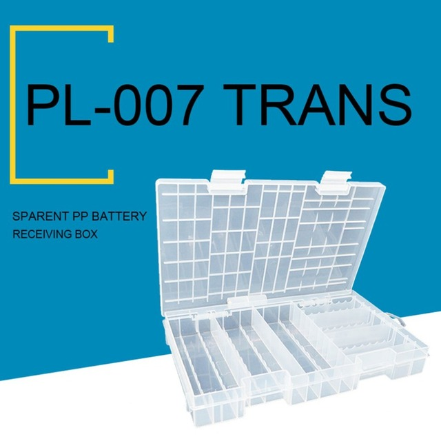 size 40 9a626 8b01d US $11.22 |Large Durable PP Multi Compartments Battery Storage Box  Transparent Plastic Box For Placing Both AA & AAA battery PL B007-in  Battery ...