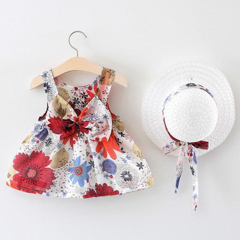 Baby Girl Summer Dress New Fashion Toddler Kid Sleeveless Printed  Princess Clothes