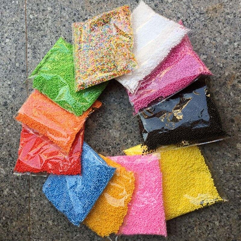 new assorted colors polystyrene styrofoam filler foam mini beads balls crafts home party wedding decoration - Polystyrene Beads