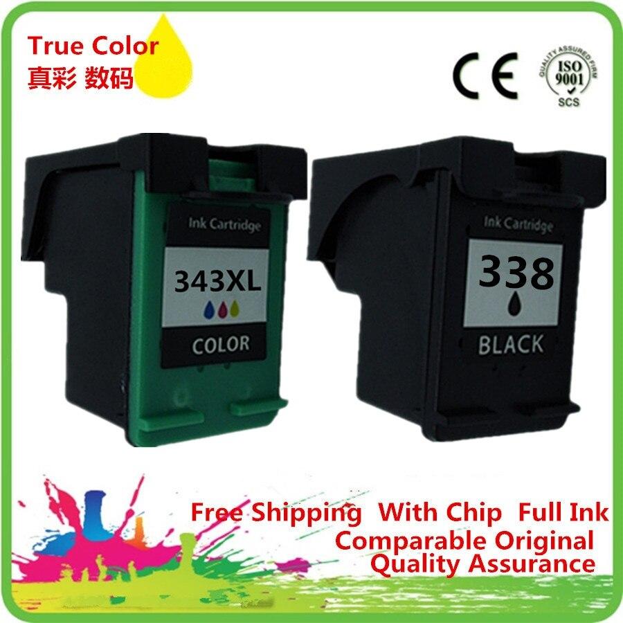 Ink Cartridge Remanufactured For HP 338 343 XL HP338 HP343 Officejet 7210 7310 7410 Photosmart 325 375 2355 2570 2610 2610v 2710