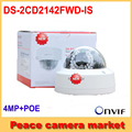 4mp câmera ip hikvision 1080 p ds-2cd2142fw-is 2.8mm lens suporte poe cctv mini câmera dome ip ip66 ao ar livre indoor áudio/alarme io