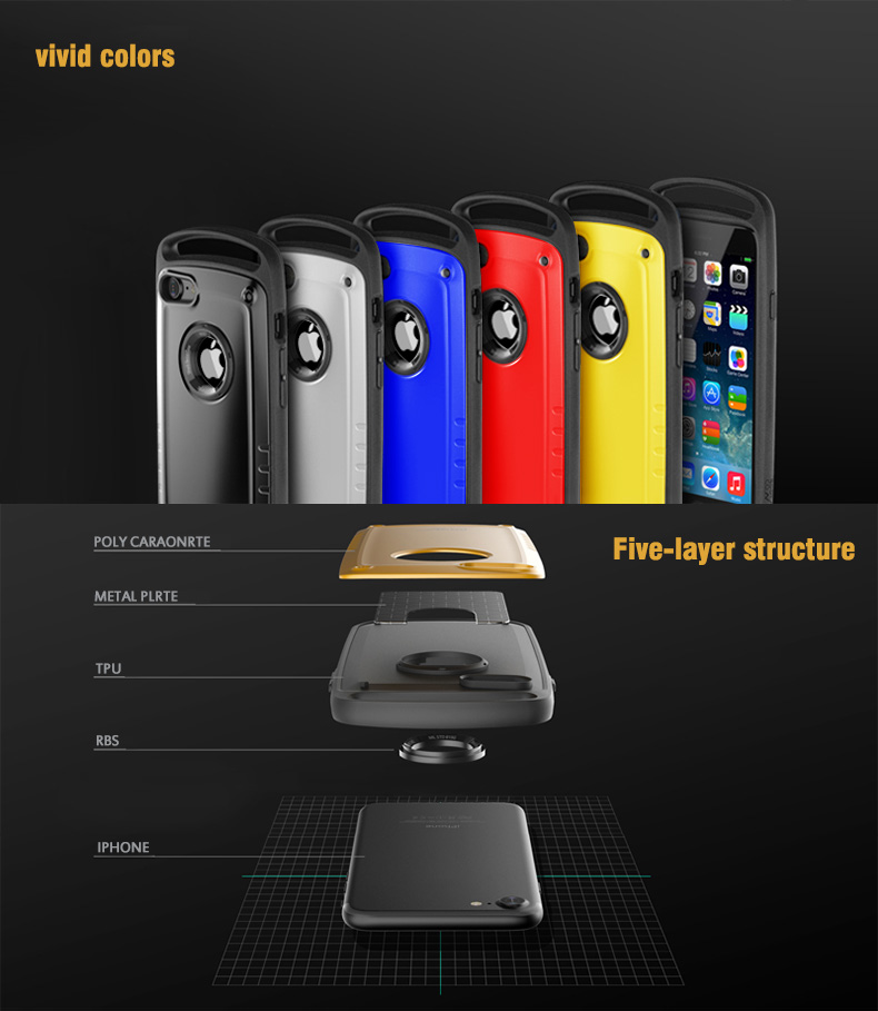 LUPHIE Hybrid Shockproof Case For iPhone X XS Max XR 8 7 plus armor case (7)
