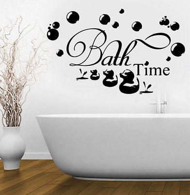 Bath Time Bubbles Soak Relax Wall Stickers Removable Vinyl ...
