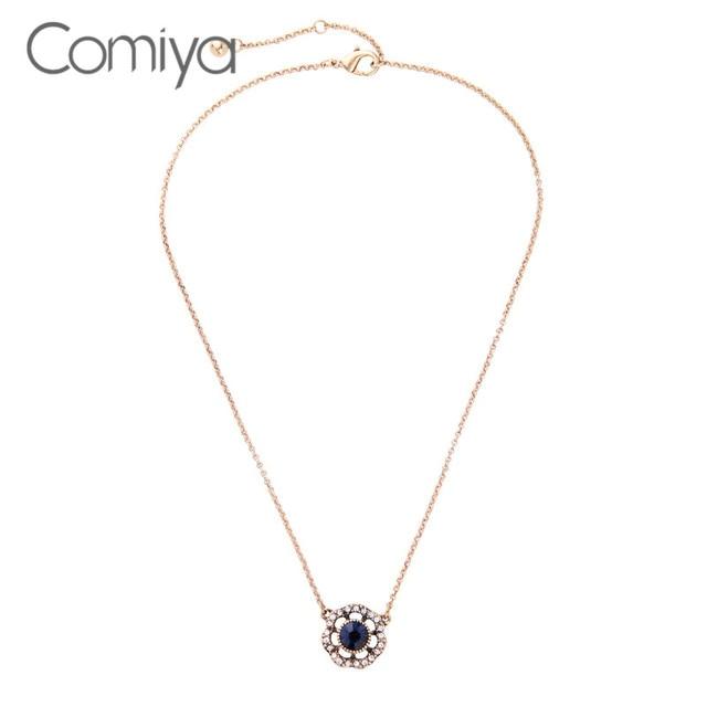 Comiya big brand simple pendant necklace for women rhinestone mosaic comiya big brand simple pendant necklace for women rhinestone mosaic jewellery colar feminino gotic fashion chokers aloadofball Images