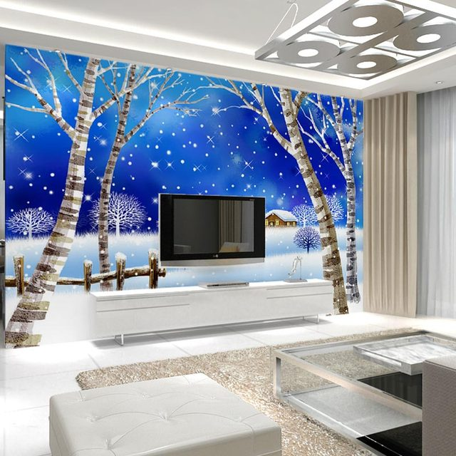 Living Room Wall Murals - Adenauart.com