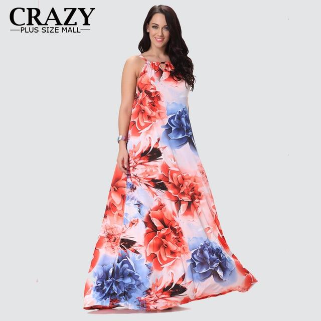 4baf59473b3 New Summer Dress 2018 Fashion Plus Size 7XL 6XL 5XL 4XL XXXL Flower  Printing Long Maxi Dress