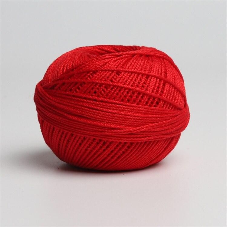 Размер 3 хлопковая Жемчужная Нить египетская длинная Штапельная хлопковая пряжа газированная двойная мерсеризованная 6 нитей плетение 50 грамм на шарик - Цвет: 669