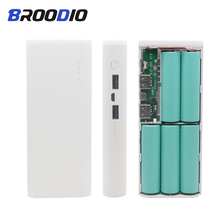 5V Dual USB 5*18650 Power Bank Battery Box Mobile Phone Charger DIY Shell Case battery Powerbank box For iphone 6 Plus S6 xiaomi цена и фото