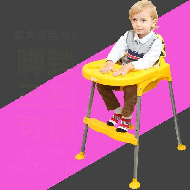 Высокое Качество Многофункциональный Красочные Регулируемый Портативный Ребенок Обеденный Стул Для 0-4 Лет Ребенок Использовать