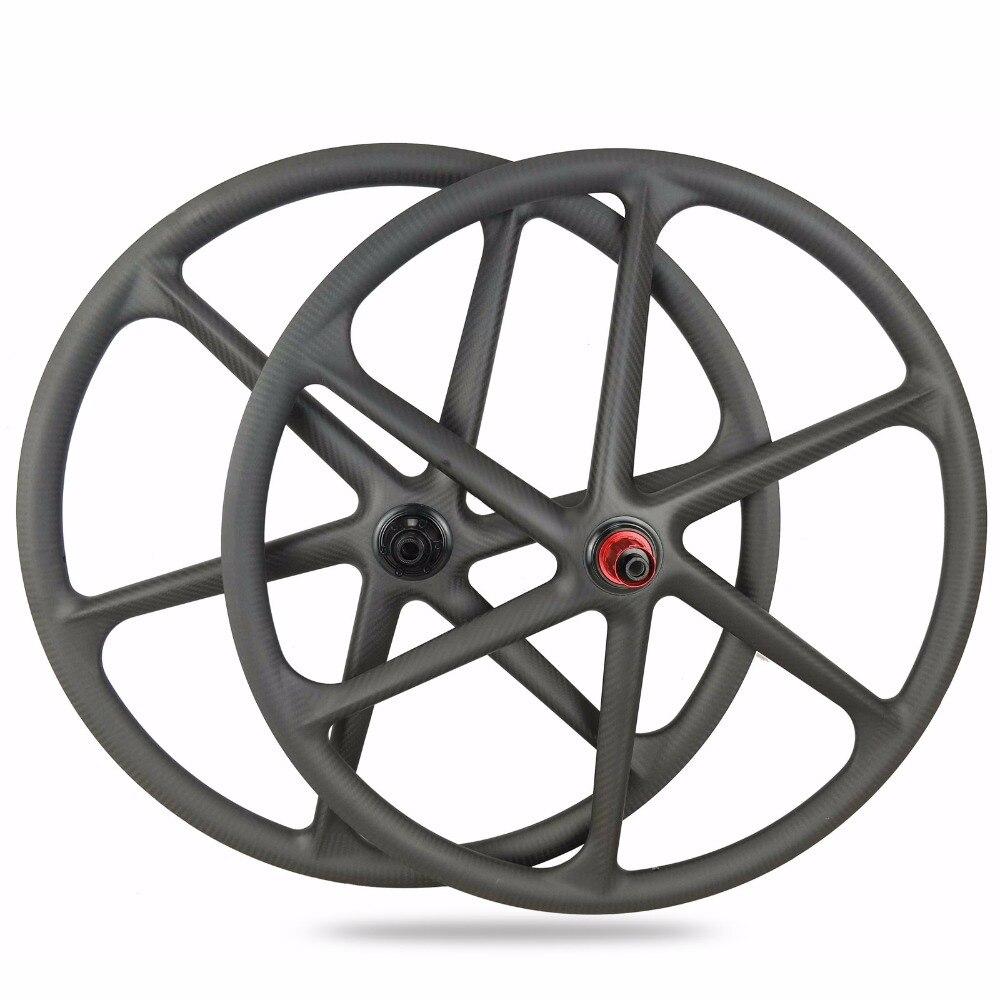 2018 New 6-SPoke mountain bicycle wheelset 29er full carbon wheels Light weight MTB bike wheelset light bicycle roda mtb 29 carbon rear wheels