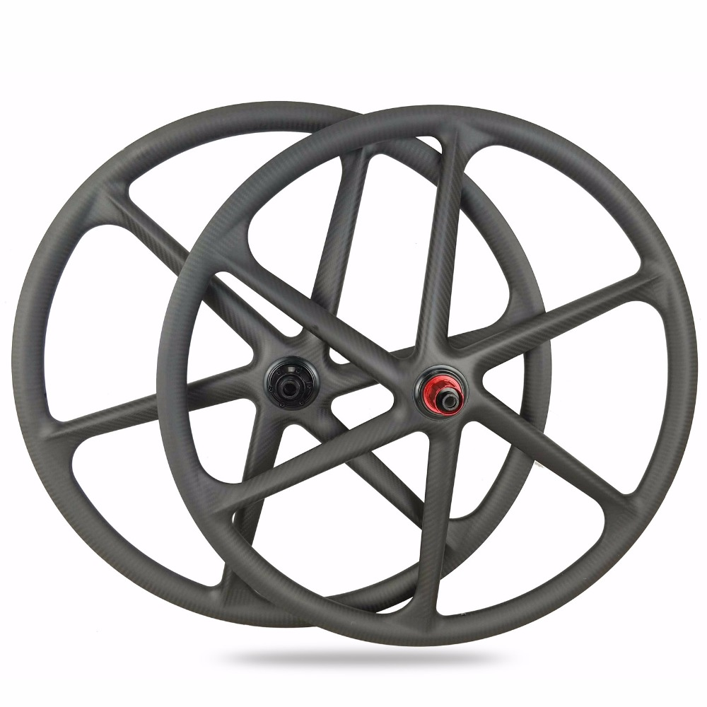 Finish time need 30 days ! 2018 New 6-SPoke mountain bicycle wheelset 29er full carbon wheels Light weight MTB bike wheelset 29er carbon 3k 6 spokes wheels mountain bike six spoke wheelset 27 5 inch mtb bicycle parts 26er for sale 650b cycling component