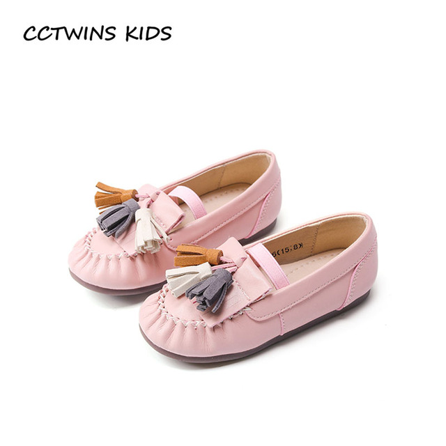 CCTWINS KIDS 2018 Spring Children Tassel Fashion Loafer Baby Girl Pu Leather  Flat Toddler Brand Fringe Shoe Pink G1725 255390160af9
