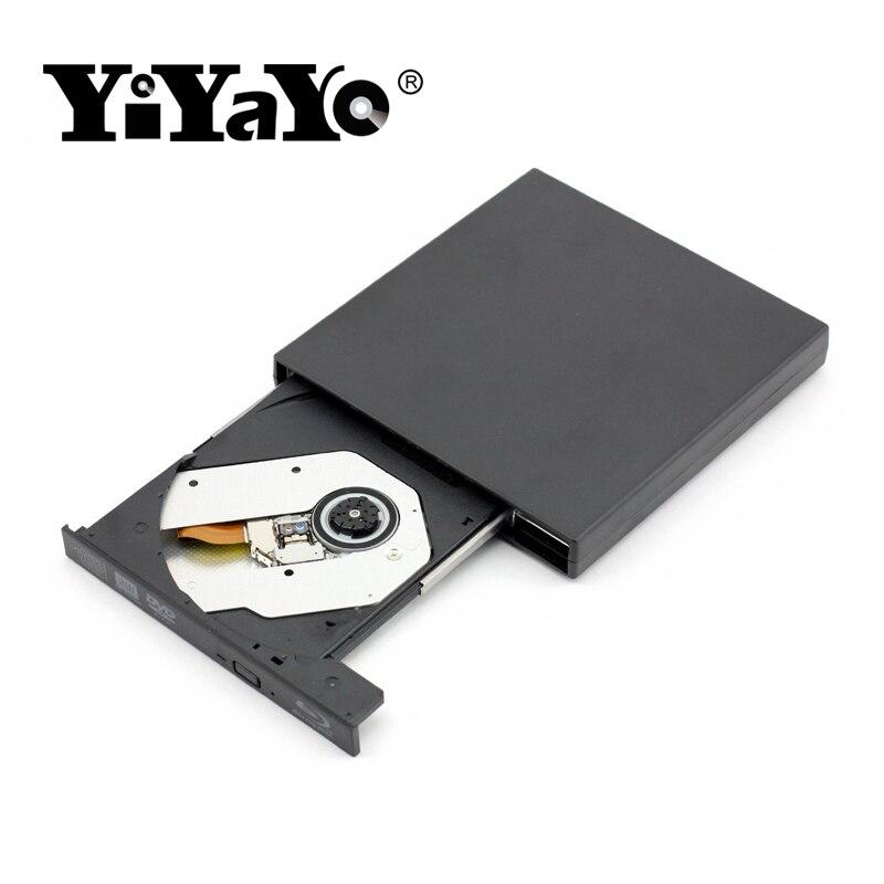 YiYaYo Externe Blu Ray Lecteur DVD, écrivain Brûleur jouer 3D film mince pour WINDOWS XP/7/8/10 Pour Macbook Ordinateur Portable lecteur Optique