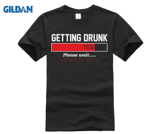 gildan getting drunk mens funny beer t shirt christmas gift for dad sleeves cotton