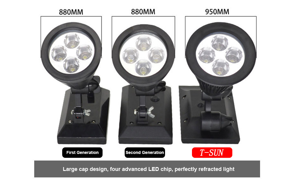 T SUN In Ground IP65 Solar Powered Spotlight with 4 to7 LEDs and Rechargeable Lithium Battery 17