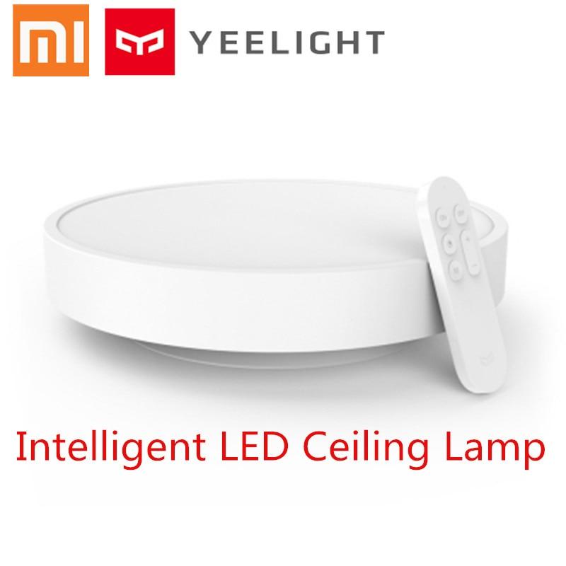 Original Xiaomi Yeelight Smart Ceiling Light Lamp Remote Mi APP WIFI Bluetooth Control Smart LED Color IP60 Dustproof smart lamp original xiaomi yeelight 28w round led ceiling light smart app bluetooth wifi control ip60 dustproof led ceiling lights for home