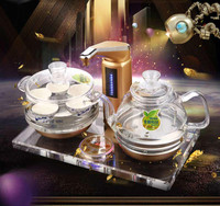 All Intelligent Automatic Water Electric Kettle Tea Furnace Crystal Glass Art Safety Auto Off Function
