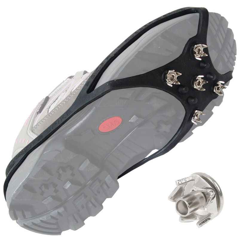 Anti Slip Ice Snow Grip Nails Hiking Ground Grippers Mountaineering Shoes Spikes