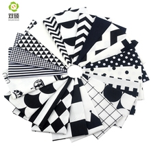New Black Color Tissus Bomull Fabric Telas Patchwork Fabric Charm og Quarter Bundles Fabric For Sy DIY Crafts 20 * 25CM 40 * 50CM