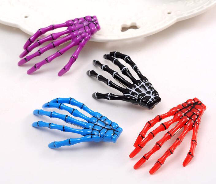 Halloween Skeleton Hand Lace Veil Haarspangen Haarschmuck Girls Fashion