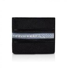 Concepteur classique véritable peau de Stingray unisexe hommes court à deux volets pochette portefeuille porte Photo en cuir exotique mâle petit porte cartes