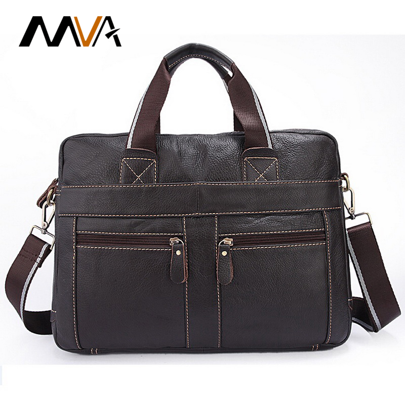 ФОТО MVA Genuine Leather Men Bag Men Messenger Bags Men's Briefcase Handbag Leather Laptop Bag Portfolio Men Shoulder Crossbody Bags