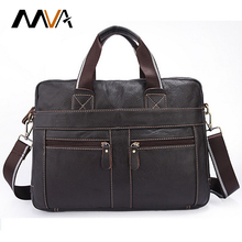 MVA Genuine Leather Men Bag Men Messenger Bags Men's Briefcase Handbag Leather Laptop Bag Portfolio Men Shoulder Crossbody Bags