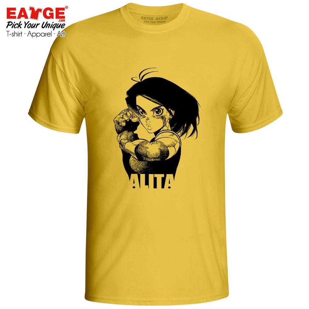 Battle Angel Alita T Shirt Gunnm Anime Gully Gally Fashion Style Cyberpunk T-shirt Casual Design Unisex Men Women Cotton Tee Футболка