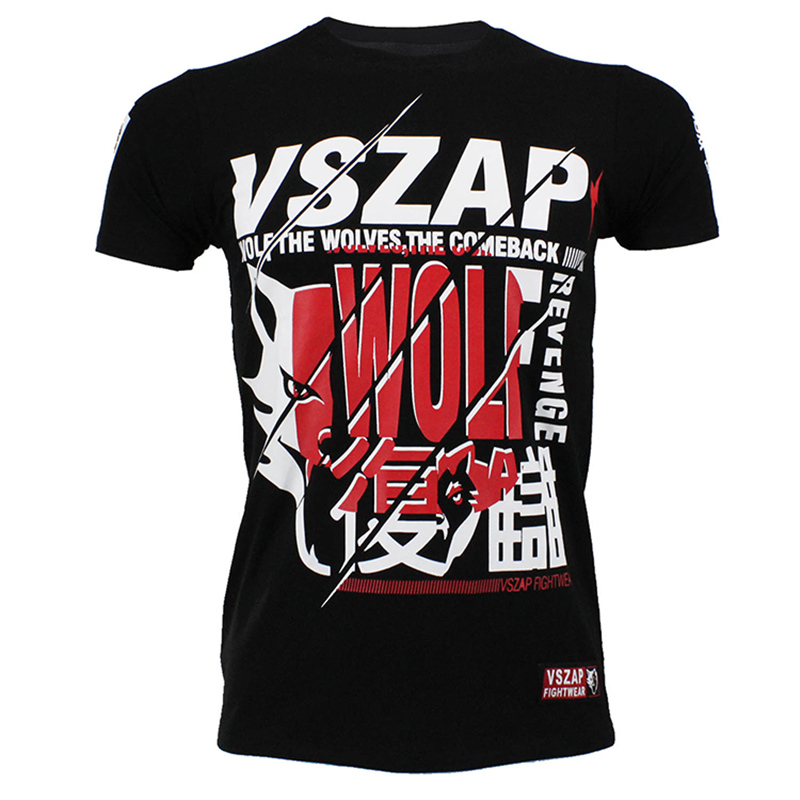 Men Boxing Jerseys Fightwear VSZAP REVENGE Unisex Mma Jersey Adult Kickboxing T Shirts