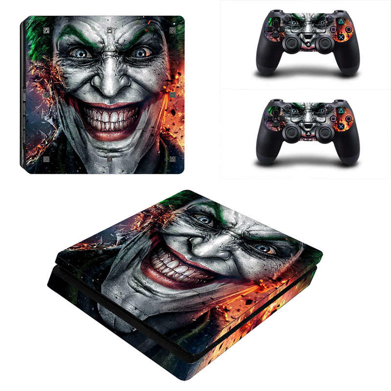 Joker Vinyl na naklejka PS4 Slim na konsolę Sony Playstation 4 Slim + 2 skórka na kontroler naklejka na skórki PS4 S