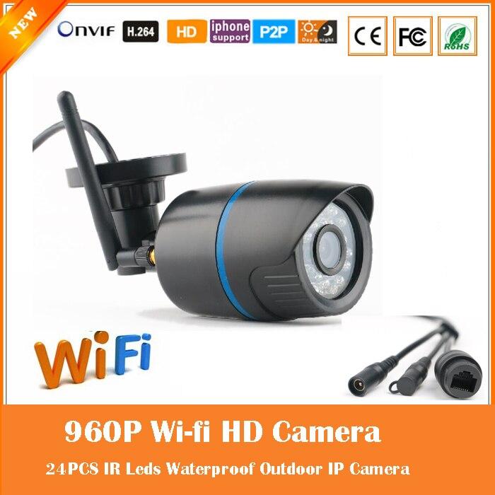 bilder für Wi fi 1.3mp 960 p gewehrkugel ip-kamera im freien drahtlose überwachungs motion erkennen wasserdichte webcam cmos freeshipping heißer verkauf