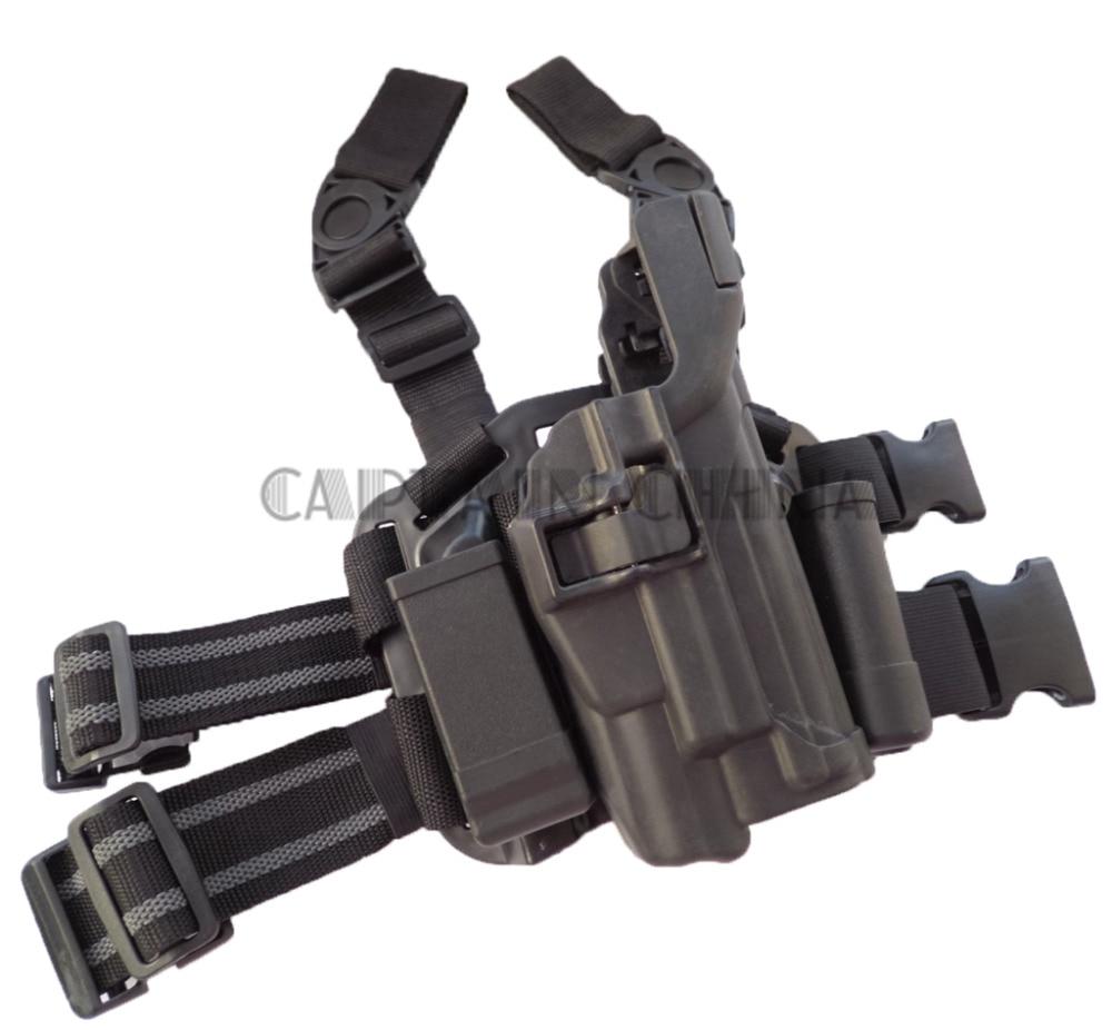Black Military Tactical Drop Leg Thigh holster Light Bearing Holster for SIG SAUER P226 P228 P229