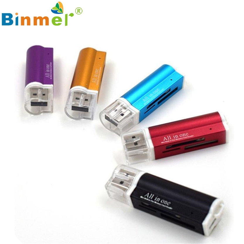 For Micro SD SDHC TF M2 MMC MS PRO DUO All In 1 USB 2.0 Multi Memory Card Reader  SZ0215