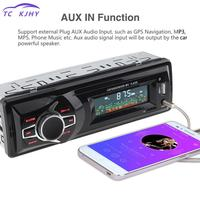 Vehicle Stereo Audio Aux Input Receiver 12v Lcd Display In dash Auto Car Radio Mp3 Player Support Tf Fm Usb Sd + Remote Control