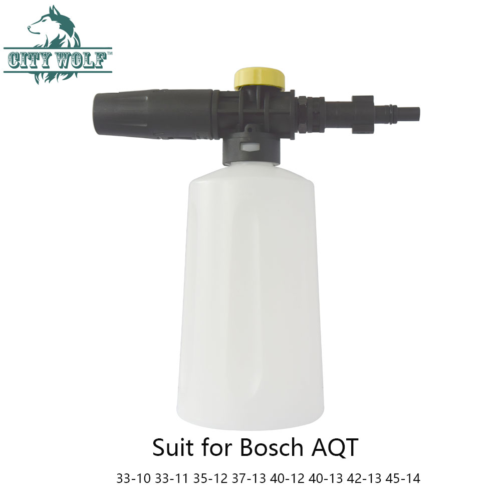 City wolf high pressure washer 750ML snow foam lance for bosch AQT33 10 33 11 35 12 37 13 40 12 40 13 42 13 45 14 car washer-in Car Washer from Automobiles & Motorcycles